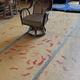 藤基神社の社務所の大広間に、無数の足跡が(新潟県村上市=小島盛康さん提供)