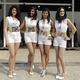 プロポーション抜群。サーキットの女神たちをラインナップしました。 (photo by DPPI/PHOTO KISHIMOTO)  [2012年10月28日、ブッダ・インターナショナル・サーキット/インド]