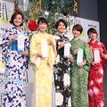 (左から)徳島えりか、青山愛、小林由未子、秋元玲奈、宮澤智