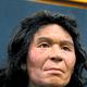 国立科学博物館などの研究グループが、縄文人の骨から抽出した遺伝情報をもとに復元した縄文人女性の顔の像