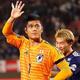 ミャンマー戦では出場のなかった川島永嗣。所属するストラスブールでは昨シーズンは1試合の出場に留まる。写真:茂木あきら(サッカーダイジェスト写真部)