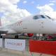 三菱重工業が手がける国内初のジェット旅客機「スペースジェット」=パリ