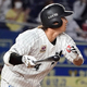 8回ロッテ一死満塁、藤岡が勝ち越しの左犠飛を放つ=ZOZOマリン (C) Kyodo News