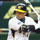 TOKYO - MARCH 23:   Outfielder Tomoaki Kanemoto #6 of Hanshin Tigers bats during a preseason friendly game between the Oakland Athletics and the Hanshin Tigers at the Tokyo Dome on March 23, 2008 in Tokyo, Japan.  (Photo by Junko Kimura/Getty Images)