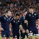 ラグビーW杯日本大会・プールA、日本対スコットランド。試合に敗れたスコットランドの選手(2019年10月13日撮影)。(c)Odd ANDERSEN / AFP