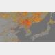 米海洋大気庁が作成した2019年5月6〜12日の朝鮮半島周辺の干ばつ指数マップ(同庁=VOA)