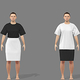 服装による足の長さの見え方を調べるための画像(作成協力・デジタルファッション社)〈大阪大の森川和則教授提供〉
