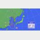 25日(火)午前11時発表の台風進路図