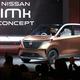 東京モーターショー2019のプレスデーに日産自動車が公開した、新型車「IMK」=23日午前、東京都江東区の東京ビッグサイト(佐藤徳昭撮影)