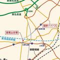 高尾山古墳周辺の地図(Jタウンネット作成)
