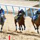 3頭併せで1馬身先着を果たしたアーモンドアイ(右)