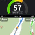 滑りながらスピードや位置情報などを目に直接伝えられる