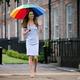 公務のため英ロンドンのケンジントン宮殿に到着したキャサリン妃(2021年6月18日撮影)。(c)Tolga Akmen / POOL / AFP