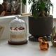 アロマキャンドルにガラスドーム