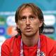 サッカー欧州選手権、グループD初戦のイングランド戦を前に、記者会見に臨むクロアチアのルカ・モドリッチ(2021年6月11日撮影)。(c)UEFA/ AFP