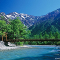 画像2_梓川と河童橋と穂高連峰