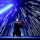「スター・ウォーズ歌舞伎」を熱演する市川海老蔵さん(28日午後、東京都目黒区で)=西孝高撮影