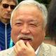 記者の質問に答える森重隆日本ラグビー協会会長