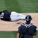 頭部に打球が直撃し倒れこむヤンキース・田中将大【写真:Getty Images】