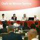 3日間の日程で始まった会議。中央が東京大会組織委の布村副事務総長=20日、東京(共同=聯合ニュース)