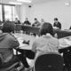 (写真)世界大会開催について議論する運営委員会のメンバー=26日、東京都内