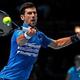 男子テニス、ATPワールドツアー・ファイナルズ初日。リターンを打つノバク・ジョコビッチ(2019年11月10日撮影)。(c)Adrian DENNIS / AFP