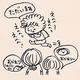 漫画「今日の宿題」のカット=りんごむし(kaoringomushi)さん提供