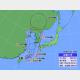 23日午前10時の台風8号の位置と進路予想。