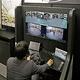 札幌市の車を5G回線を通して東京から遠隔操作する技術(22日午後、東京都江東区で)=菅野靖撮影