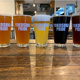 三浦市初声の小麦を使用使用した初声ミツムギウィート(中)など、クラフトビールは6種。ビールは「横須賀ビール オンライン」でも購入できる
