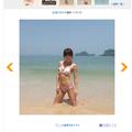 ウエストのくびれが美しい見事なスタイルを披露した釈由美子  -