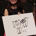 トラの絵を披露した、小嶋陽菜