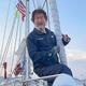 ヨットでの太平洋横断に成功した辛坊治郎さん=米国サンディエゴで(ニッポン放送提供)