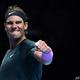 男子テニス、ATPファイナルズ5日目。勝利を喜ぶラファエル・ナダル(2020年11月19日撮影)。(c)Glyn KIRK / AFP