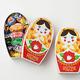 【新潟県】レトロかわいいお菓子 ロシア民芸品マトリョーシカBOX