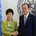 国連事務総長の潘基文氏は大統領ポストに王手をかけてい
