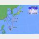 29日午後3時の台風9号の位置と進路予想。