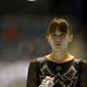 第66回体操全日本団体・種目別選手権が代々木第一体育館で開催された。 4日に行われた女子の種目別決勝。田中理恵は段違い平行棒で2位、床運動で3位に終わった。  写真は、優勝こそ逃したものの、今季一番の演技をみせた田中理恵。 (写真:フォート・キシモト)  [2012年11月4日、代々木第一体育館/東京]