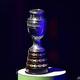 コパ・アメリカの優勝トロフィー(2019年1月24日撮影、資料写真)。(c)Carl DE SOUZA/ AFP
