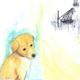 悲しげな犬のイラスト