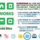 サテライトオフィス、「LINE WORKS」と連携する多店舗管理機能