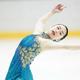 <西日本フィギュアスケート選手権第2日>女子フリー、演技をする山下真瑚(撮影・小海途 良幹)