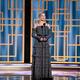 米ビバリーヒルズで、第78回ゴールデン・グローブ賞授賞式のプレゼンターを務めるマーゴット・ロビー。ハリウッド外国人映画記者協会提供(2021年2月28日撮影)。(c)AFP PHOTO / HFPA