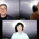 『WEIN挑戦者FUND』設立ののオンライン記者発表に出席した本田圭佑(右上)、溝口勇児氏(下)、高岡浩三氏(WEIN挑戦者FUND提供)