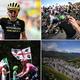 ツール・ド・フランス第12ステージ(トゥールーズからバニェールドビゴール、209.5キロメートル)の様子をまとめたコンボ写真(2019年7月18日撮影)。(c)AFP=時事/AFPBB News