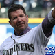 SEATTLE, WA - MARCH 28: Former Seattle Mariner and Hall of Famer Edgar Martinez waves to the crowd after throwing out the ceremonial first pitch against the Seattle Mariners and Boston Red Sox during their Opening Day game at T-Mobile Park on March 28, 2019 in Seattle, Washington.  (Photo by Abbie Parr/Getty Images)