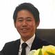 奈良県三宅町の森田浩司町長=2021年2月17日、根本晃撮影