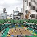 会場は靭テニスセンター(大阪市)。ジャパン女子オープンテニス