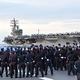 7月7日、日本の海上自衛隊は米空母と合同訓練を行なった(防衛省)