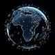 地球を囲うスターリンクの3Dイメージ(Credit: Shutterstock)